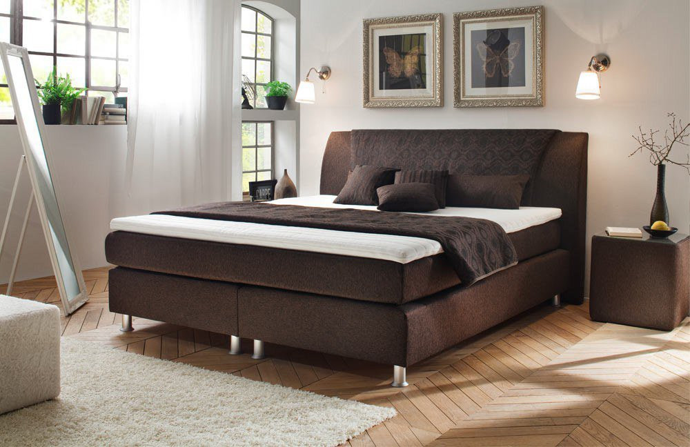 oschmann ravenna boxspringbett braun m bel letz ihr online shop. Black Bedroom Furniture Sets. Home Design Ideas