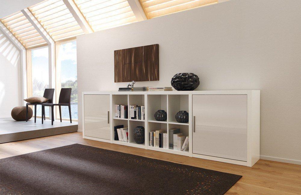 sideboard como wei sand hochglanz von cs schmalm bel. Black Bedroom Furniture Sets. Home Design Ideas