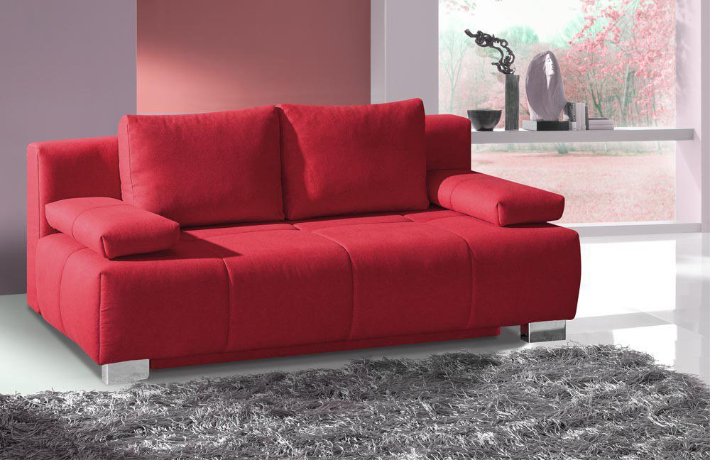 restyl logan schlafsofa mit bettkasten in rot m bel letz ihr online shop. Black Bedroom Furniture Sets. Home Design Ideas