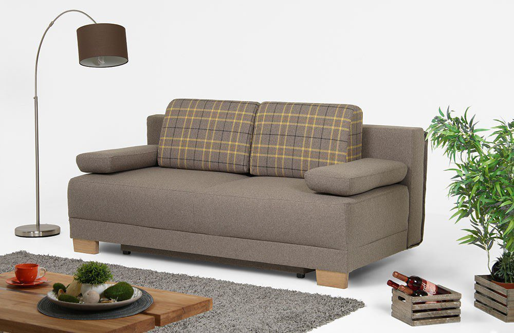 restyl felicia funktionssofa in braun mit kissen m bel. Black Bedroom Furniture Sets. Home Design Ideas