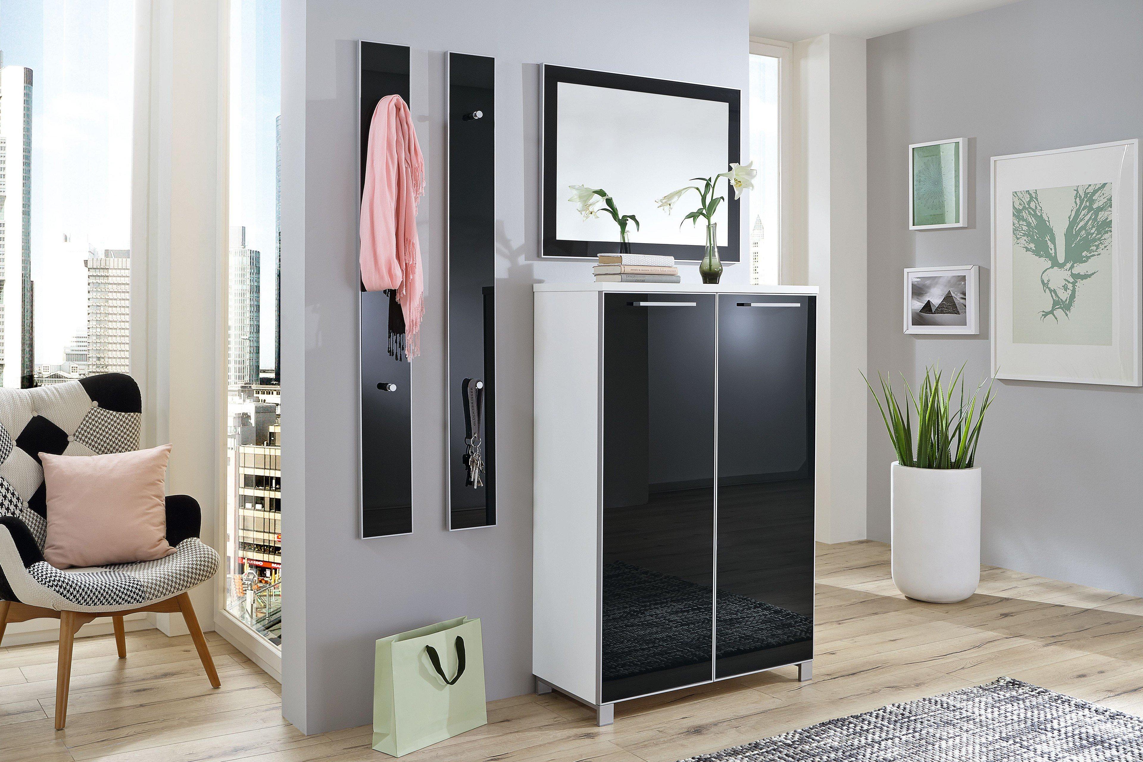garderobe santina lack wei anthrazit von voss m bel. Black Bedroom Furniture Sets. Home Design Ideas