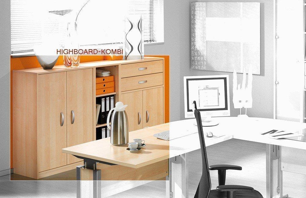 Welle Büromöbel JOBexpress Ahorn | Möbel Letz - Ihr Online-Shop