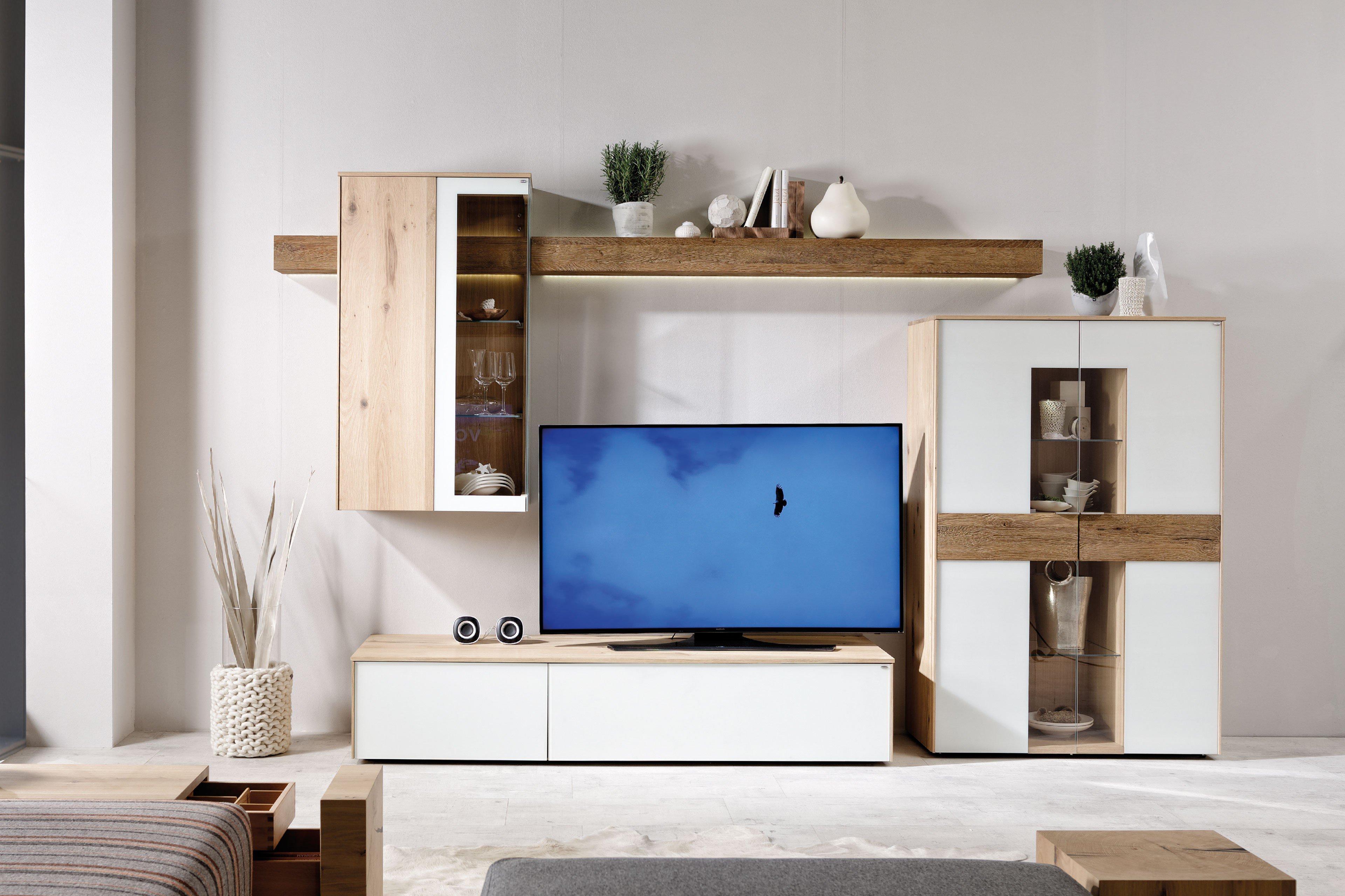 voglauer wohnwand v solid 401 wildeiche furniert eiche m bel letz ihr online shop. Black Bedroom Furniture Sets. Home Design Ideas
