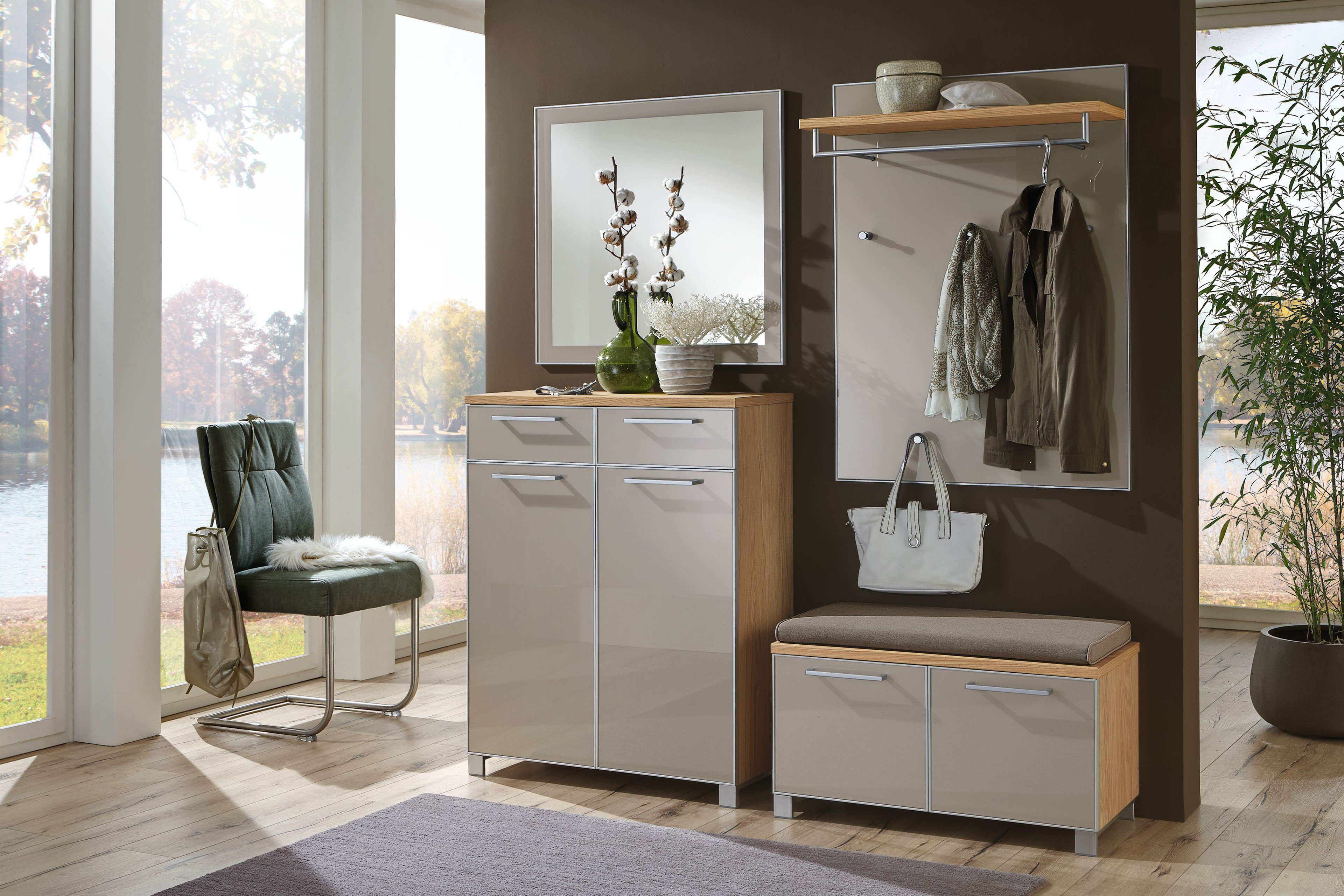 garderobe santina eiche bianco taupe voss m bel m bel letz ihr online shop. Black Bedroom Furniture Sets. Home Design Ideas