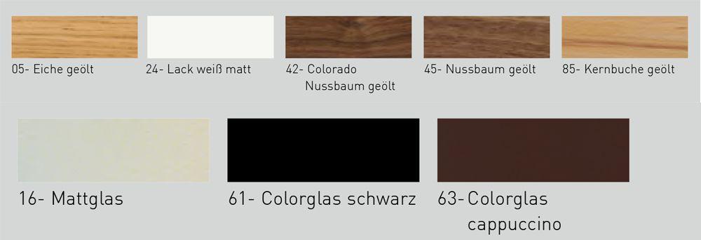 Couchtisch 4423 weiß lackiert & Kristallglas  Venjakob