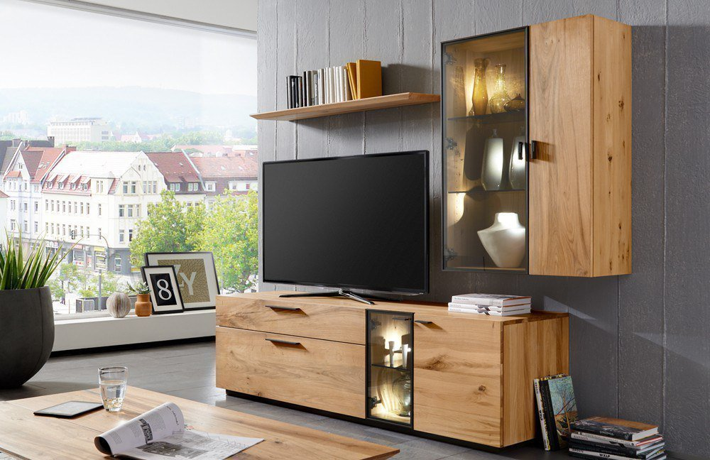 wohnwand reveno re 601105 asteiche natur von wimmer. Black Bedroom Furniture Sets. Home Design Ideas
