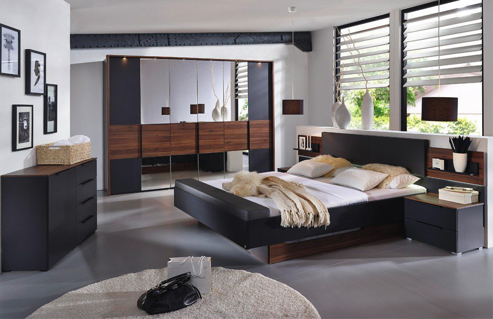 rauch amado schwarz nussbaum m bel letz ihr online. Black Bedroom Furniture Sets. Home Design Ideas
