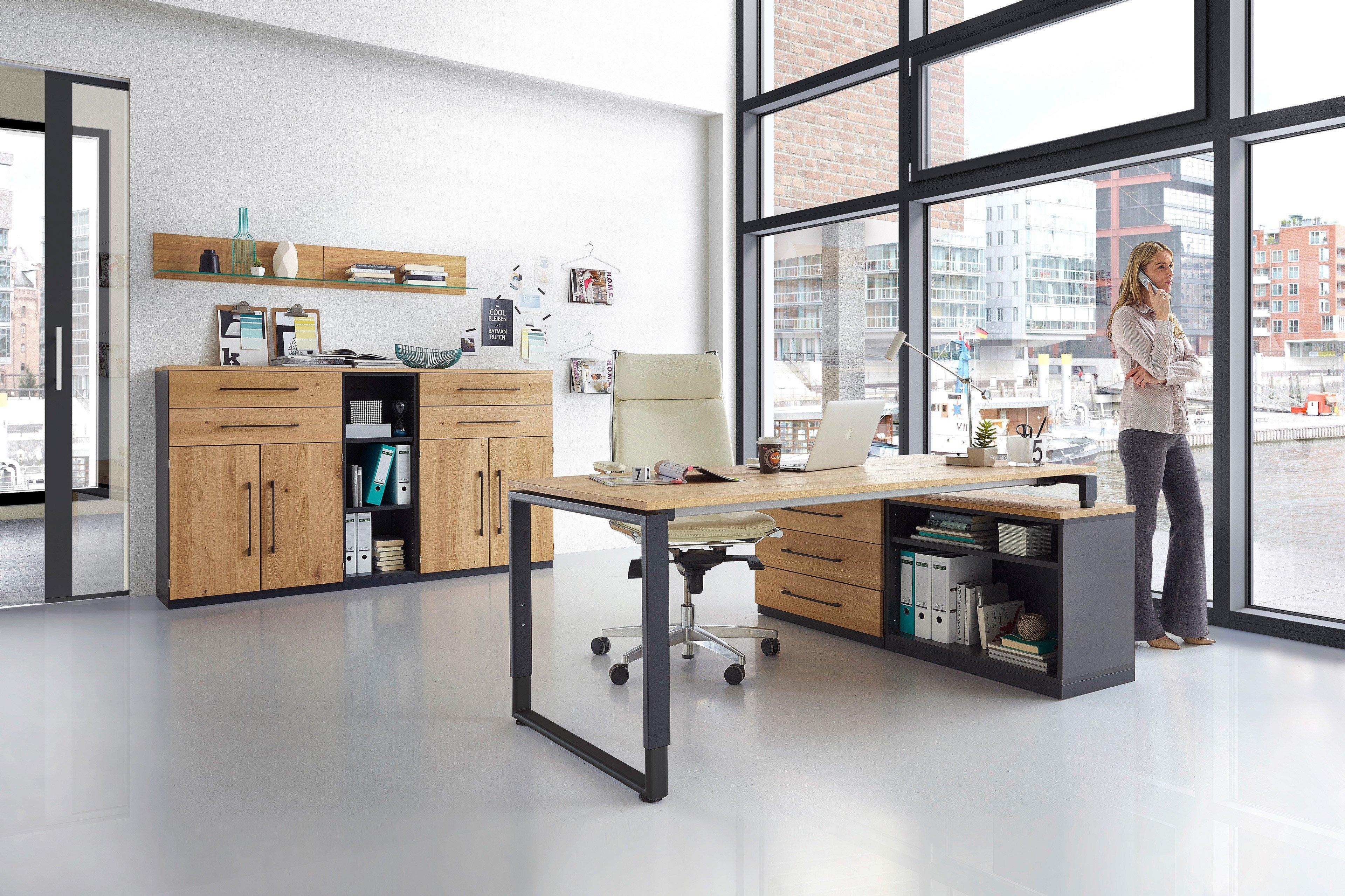 r hr schreibtisch eiche anthrazit m bel letz. Black Bedroom Furniture Sets. Home Design Ideas