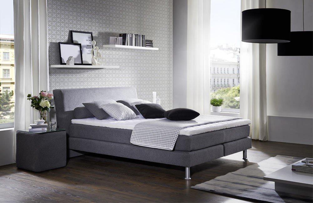 oschmann belcanto pure boxspringbett grau m bel letz ihr online shop. Black Bedroom Furniture Sets. Home Design Ideas