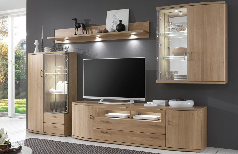 ideal m bel wohnwand riva 352 eiche bianco m bel letz ihr online shop. Black Bedroom Furniture Sets. Home Design Ideas