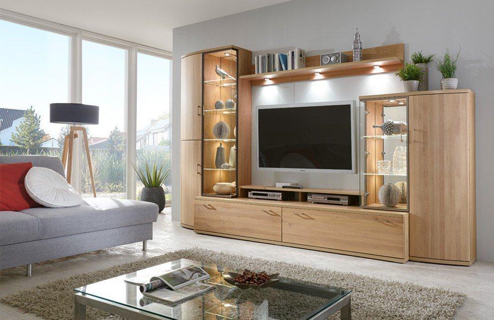 wohnwand riva 354 eiche bianco von ideal m bel m bel letz ihr online shop. Black Bedroom Furniture Sets. Home Design Ideas