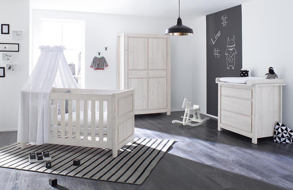 line babyzimmer von pinolino eiche grau m bel letz ihr online shop. Black Bedroom Furniture Sets. Home Design Ideas