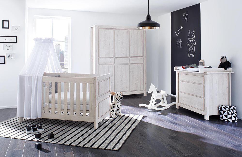 Line babyzimmer von pinolino eiche grau m bel letz ihr online shop - Babyzimmer grau ...