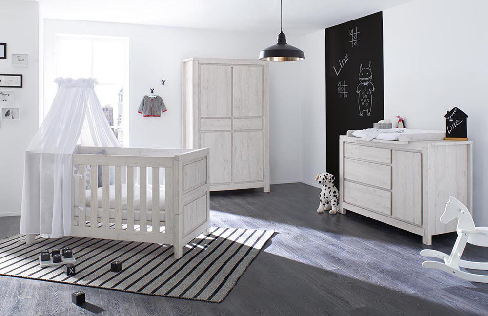 pinolino line babyzimmer grau 3 teilig m bel letz ihr online shop. Black Bedroom Furniture Sets. Home Design Ideas