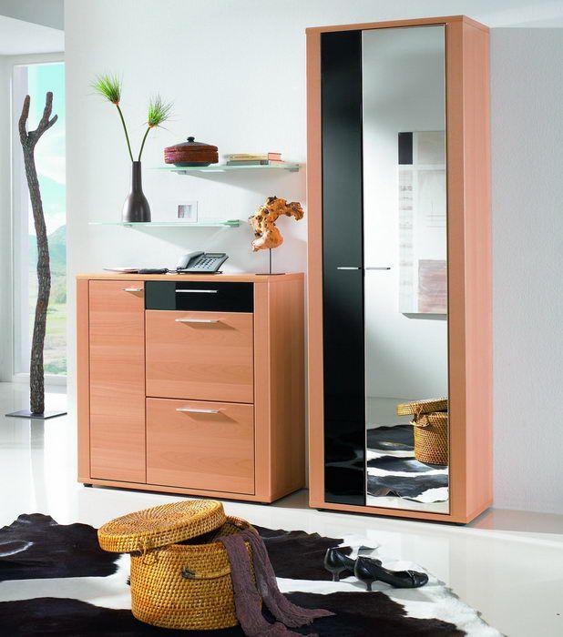 granada von leinkenjost garderobe buche schwarz hochglanz. Black Bedroom Furniture Sets. Home Design Ideas