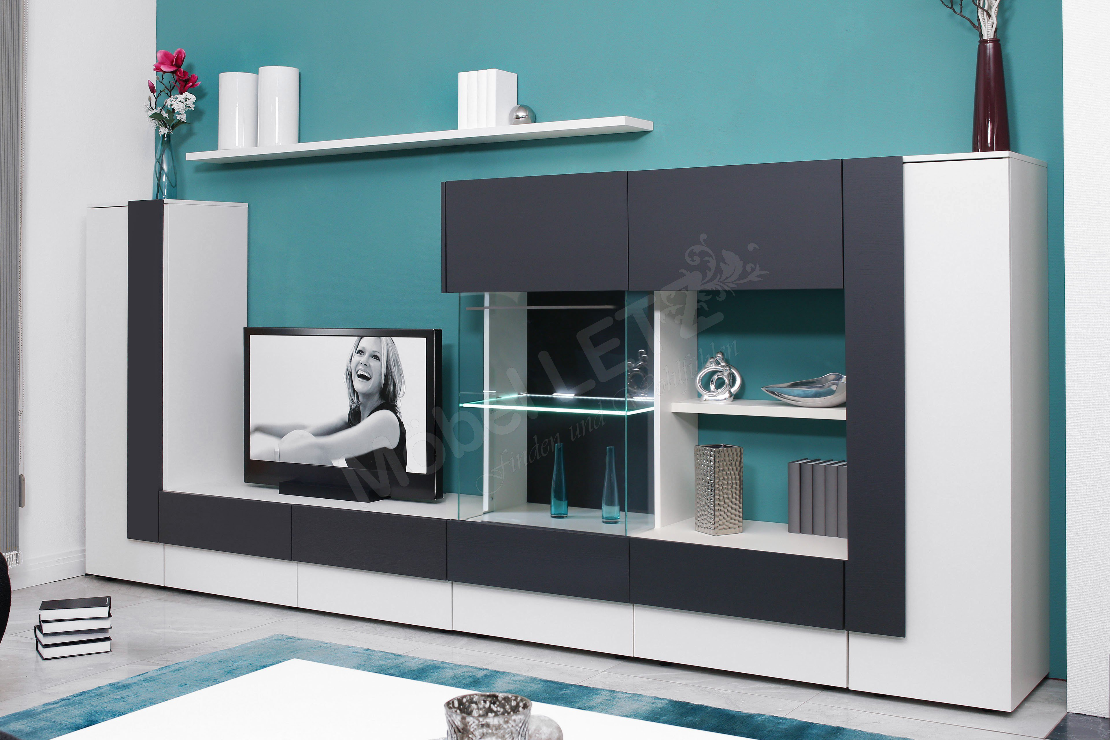 collection c wohnwand cubic 1 ev06 m bel letz ihr. Black Bedroom Furniture Sets. Home Design Ideas