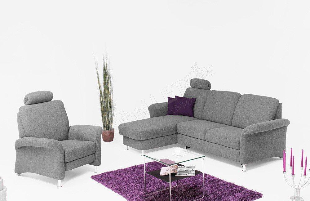 Zehdenick Jaguar Ecksofa alufarbig | Möbel Letz - Ihr Online-Shop