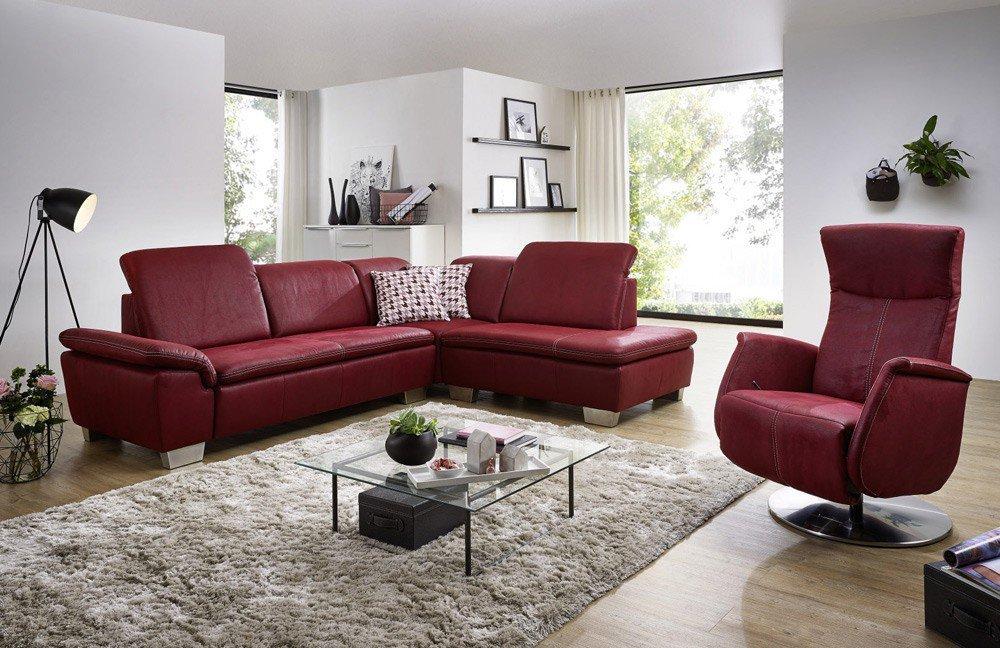 EMP Extasy 383 / 384 Ecksofa in Rot | Möbel Letz - Ihr Online-Shop