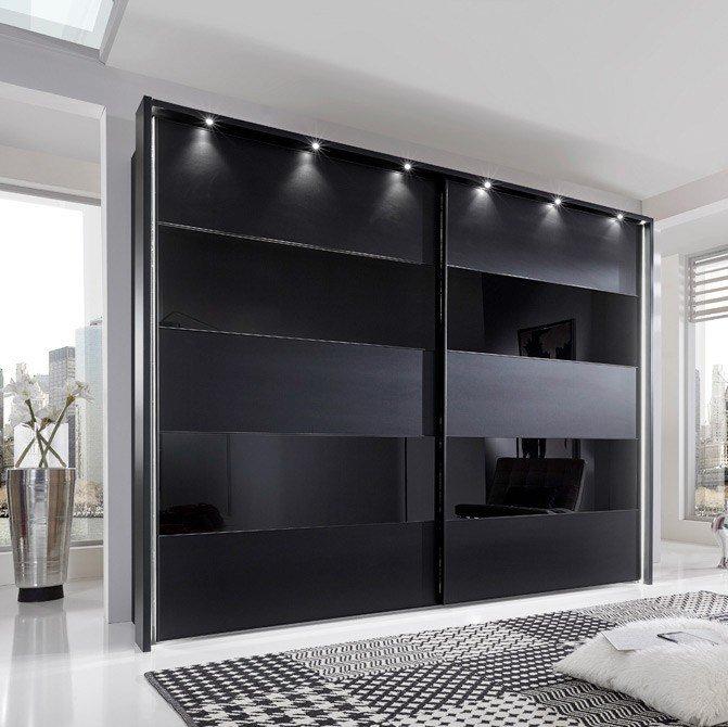Schwebetürenschrank schwarz  Wiemann Sunset Schweber schwarz | Möbel Letz - Ihr Online-Shop
