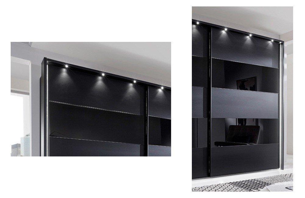 Schwebetürenschrank schwarz  Wiemann Sunset Schweber schwarz   Möbel Letz - Ihr Online-Shop