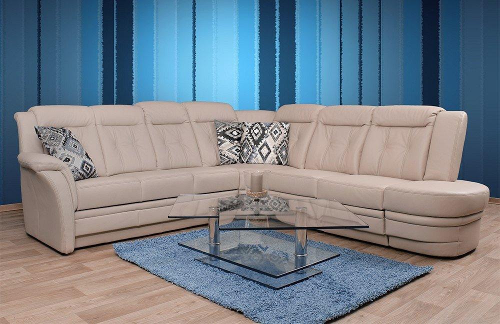 pm oelsa andorra ledersofa in beige m bel letz ihr online shop. Black Bedroom Furniture Sets. Home Design Ideas