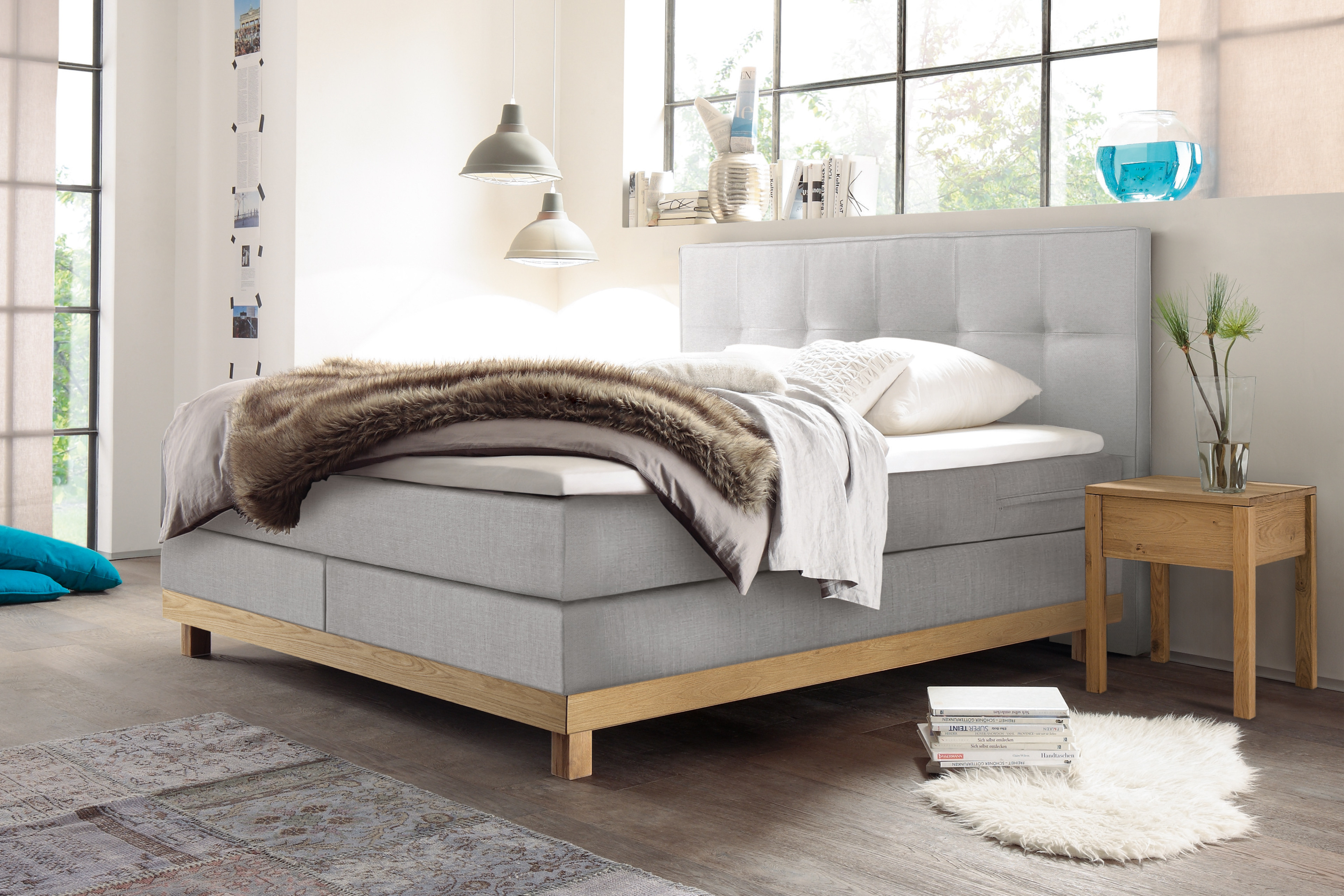 8e8034641ae175 Pronto von Hasena - Boxspringbett Bella brown