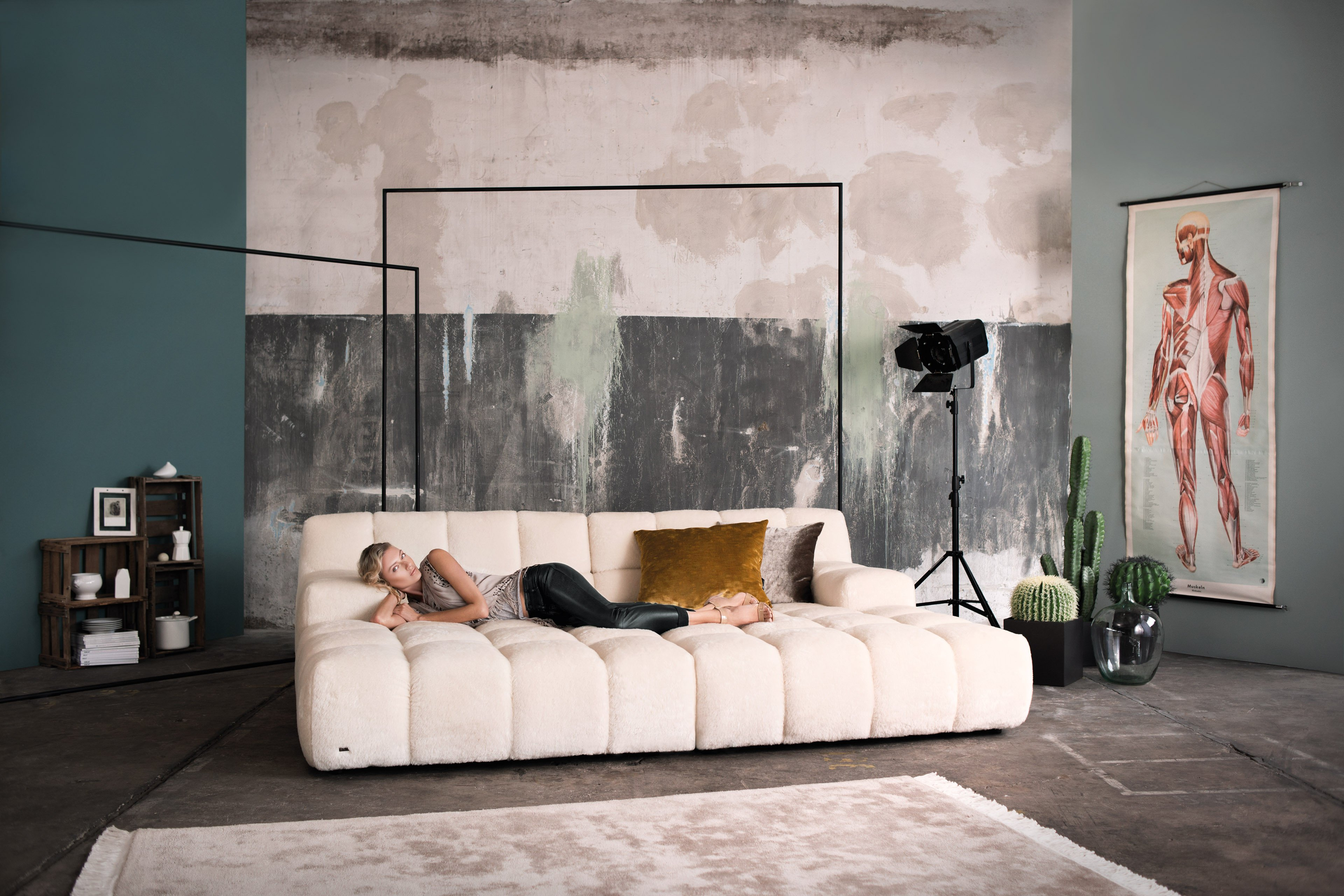 bretz ocean 7 sofa creme m bel letz ihr online shop. Black Bedroom Furniture Sets. Home Design Ideas
