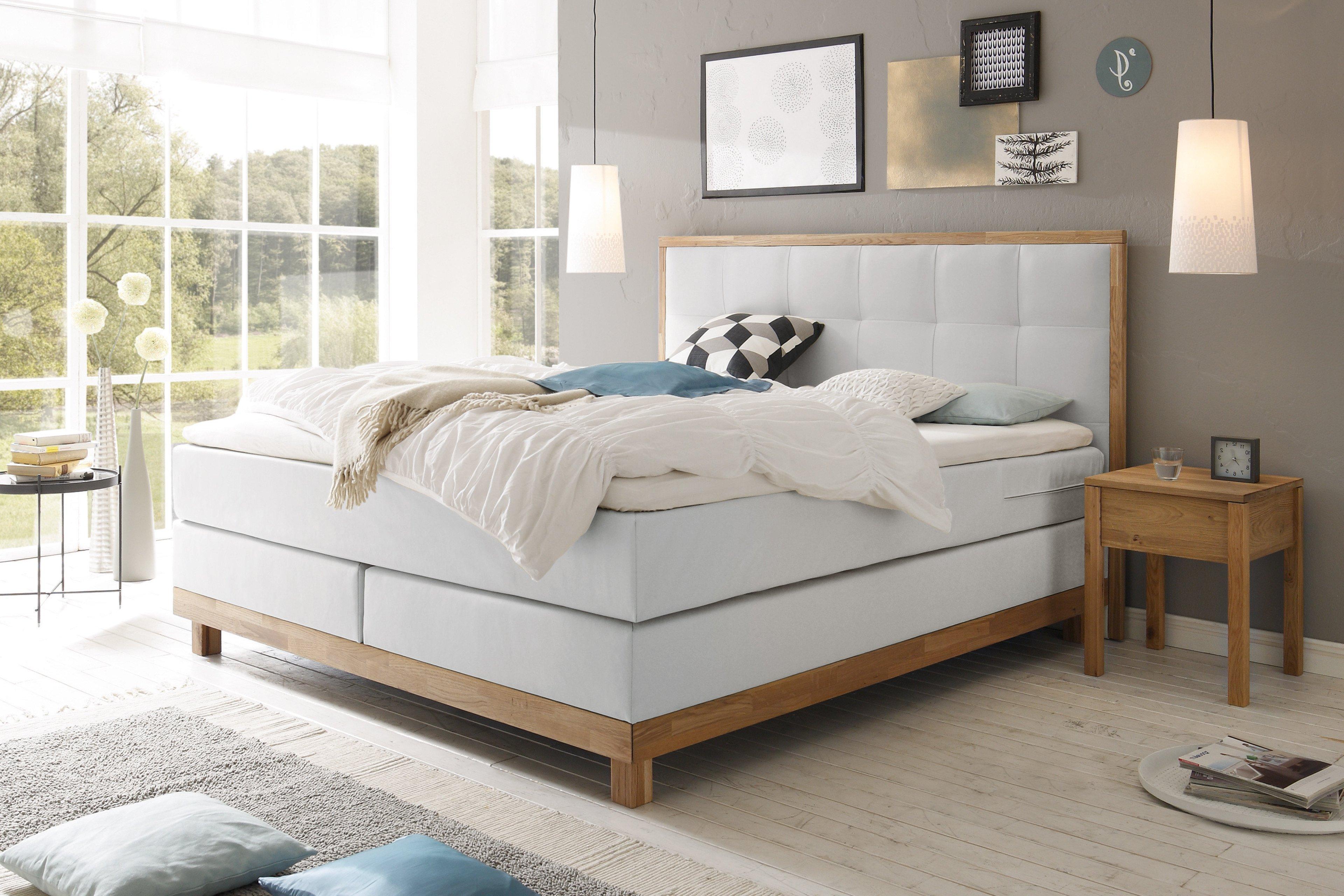 hasena pronto chalet boxspringbett beige m bel letz. Black Bedroom Furniture Sets. Home Design Ideas
