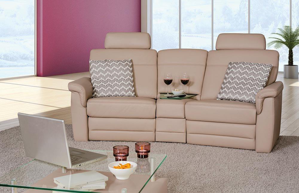 pm oelsa bastei ledersofa in beige m bel letz ihr. Black Bedroom Furniture Sets. Home Design Ideas