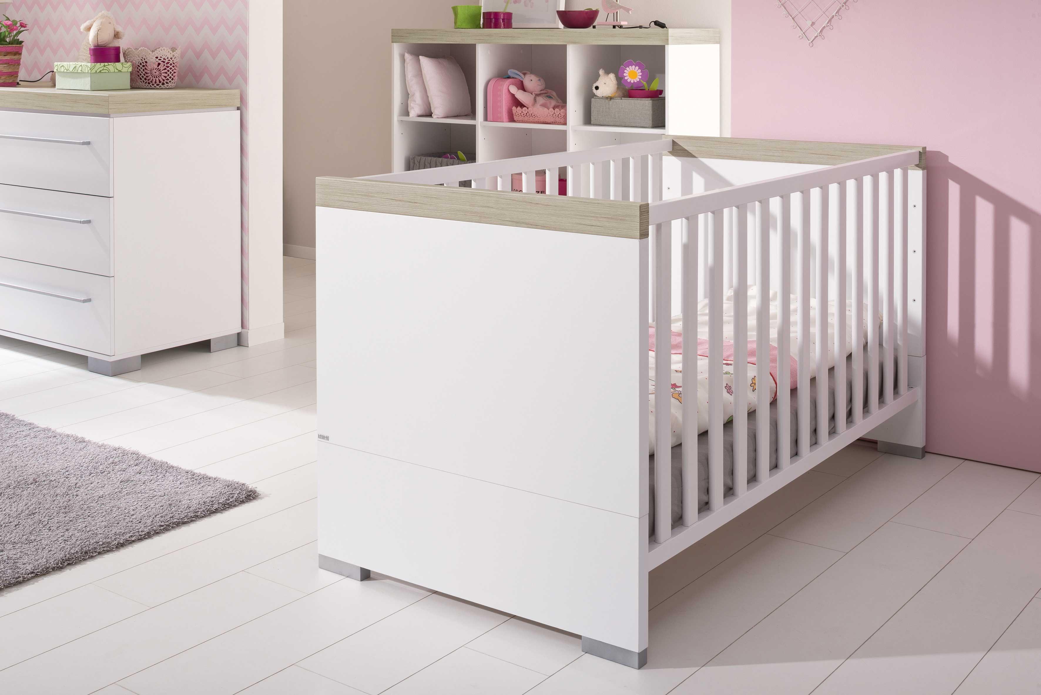 Kira von Paidi - Babyzimmer weiß - Eiche nautik Nachbildung