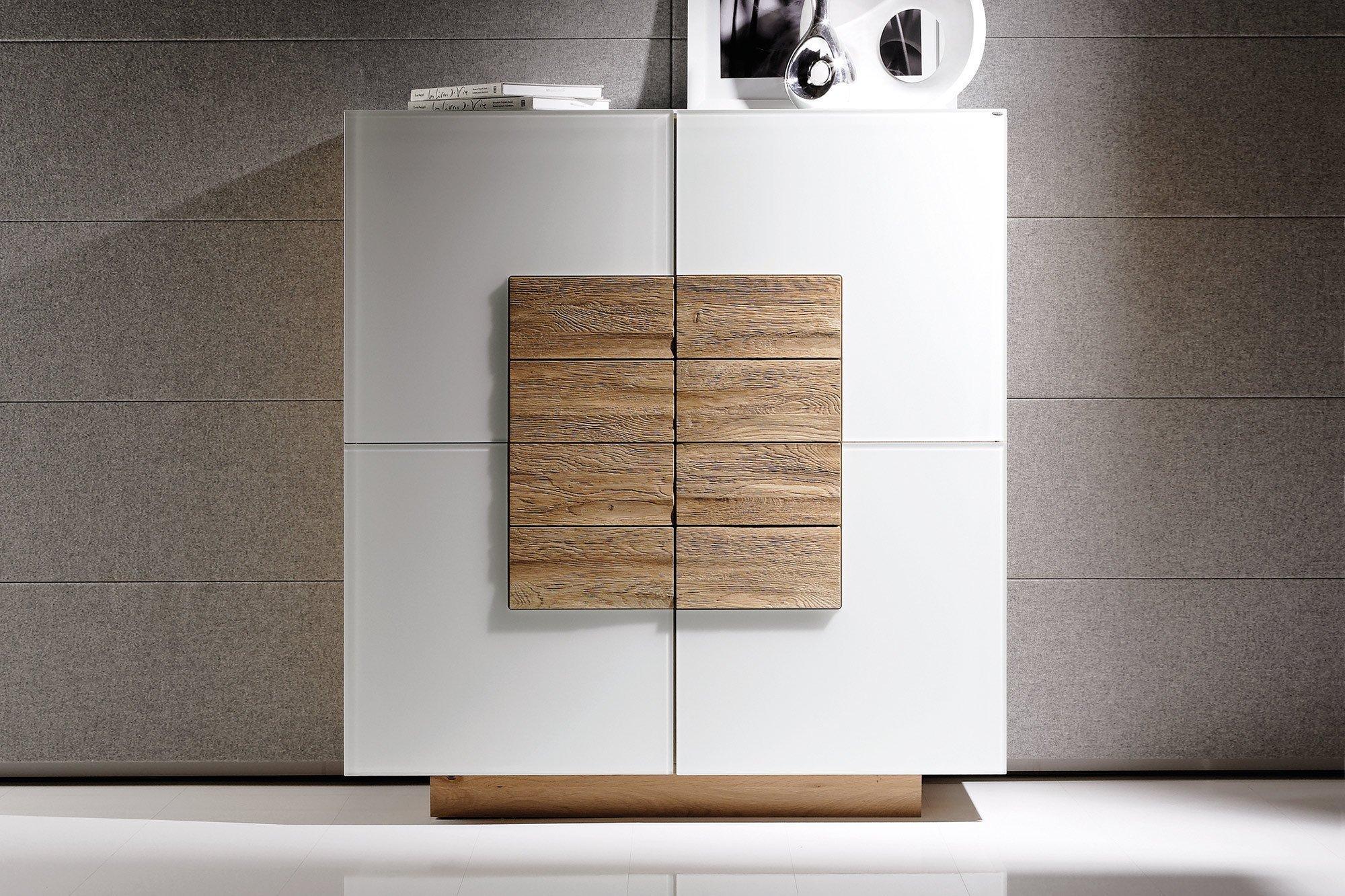 voglauer highboard v montana 128 wildeiche optiwhite. Black Bedroom Furniture Sets. Home Design Ideas