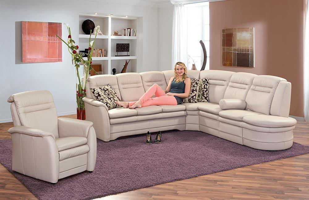pm oelsa gomera ledersofa in creme m bel letz ihr. Black Bedroom Furniture Sets. Home Design Ideas