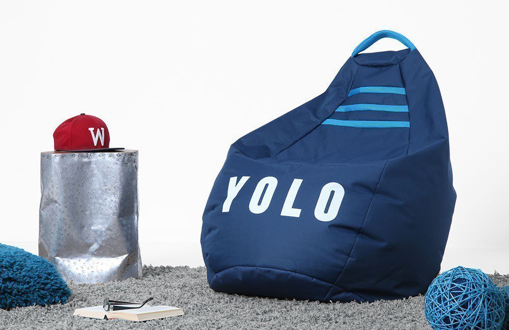 sitzsack beanbag yolo xl blau von magma heimtex m bel letz ihr online shop. Black Bedroom Furniture Sets. Home Design Ideas