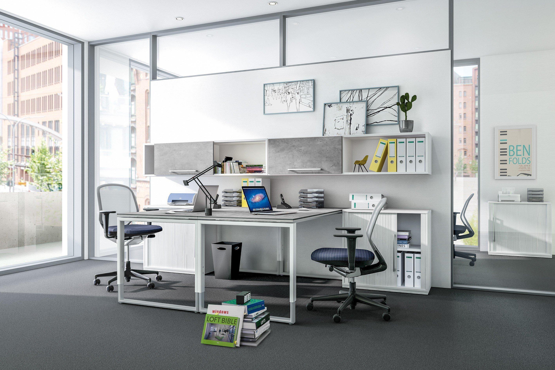 Röhr objekt.plus Schreibtisch weiß/ Quarzit | Möbel Letz - Ihr ...