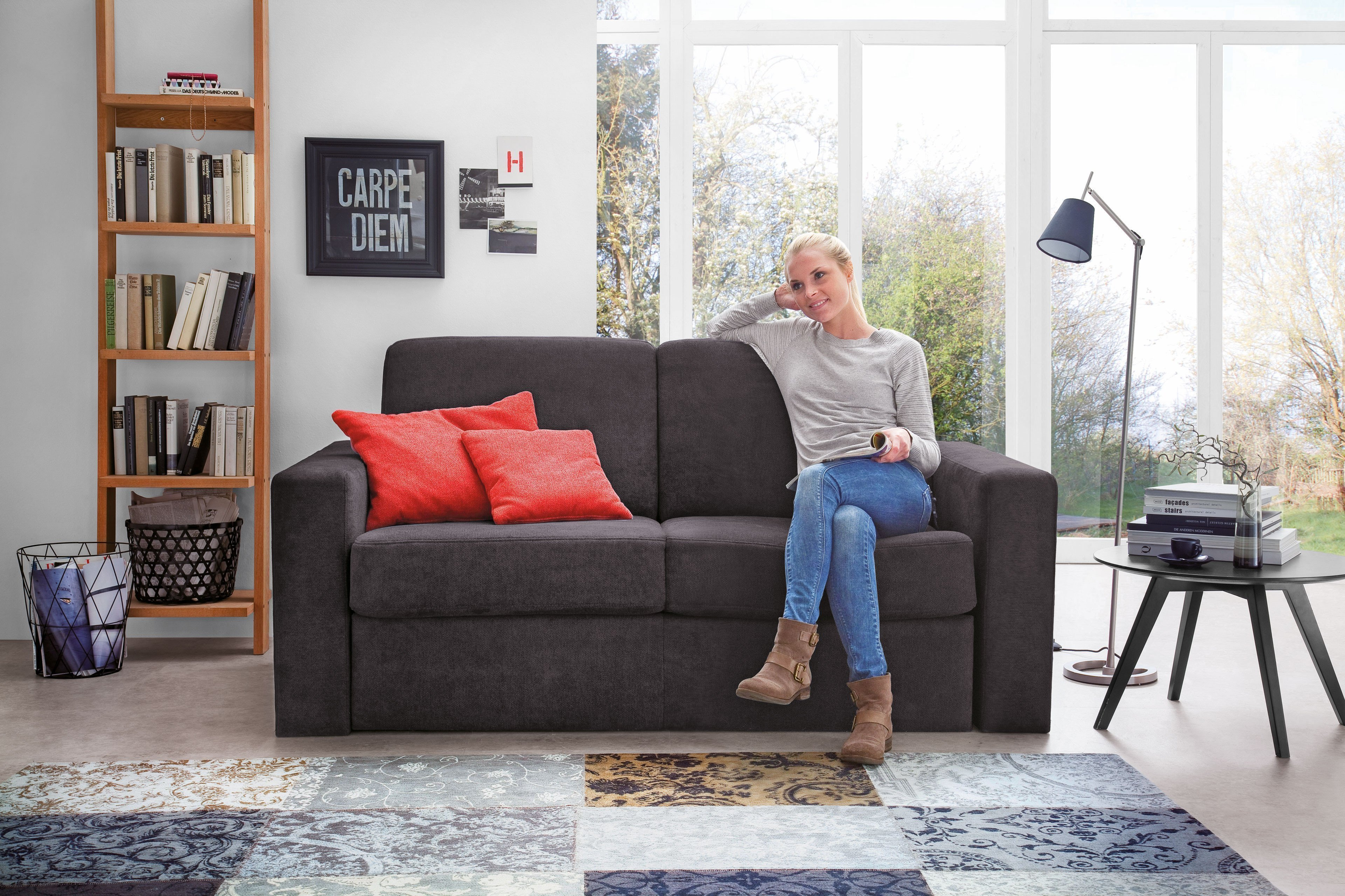 easy sleep von poco schlafsofa in anthrazit m bel letz ihr online shop. Black Bedroom Furniture Sets. Home Design Ideas