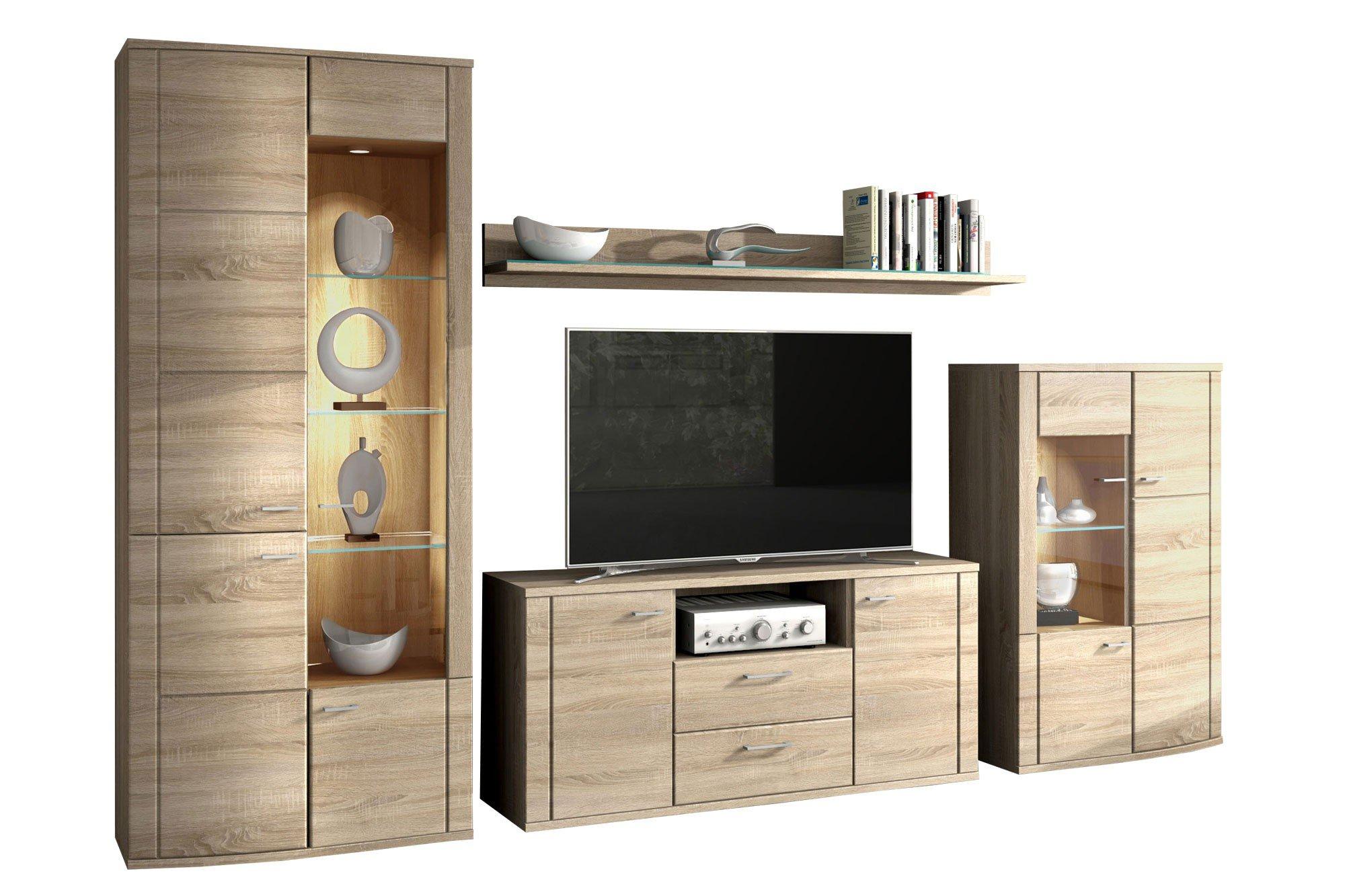 wohnwand siena 1830 sonoma eiche von rmi m bel m bel letz ihr online shop. Black Bedroom Furniture Sets. Home Design Ideas