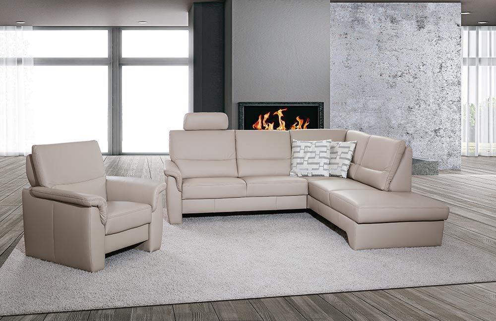 pm oelsa k nigstein eckgarnitur leder sorbet m bel letz ihr online shop. Black Bedroom Furniture Sets. Home Design Ideas