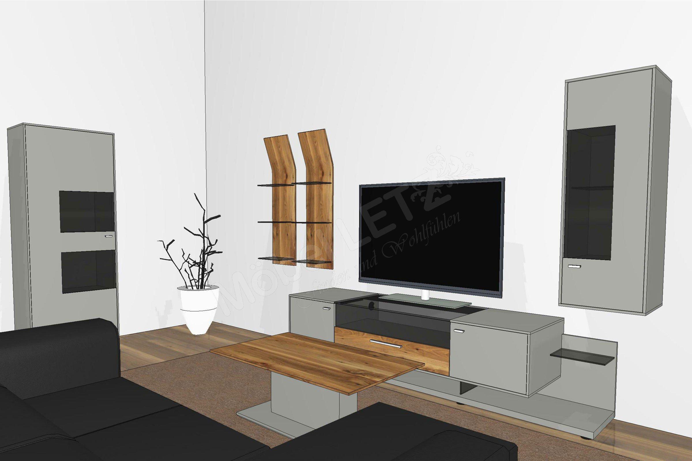 Gwinner wohnwand media concept mc902 fango astnussbaum - Wohnwand gwinner ...