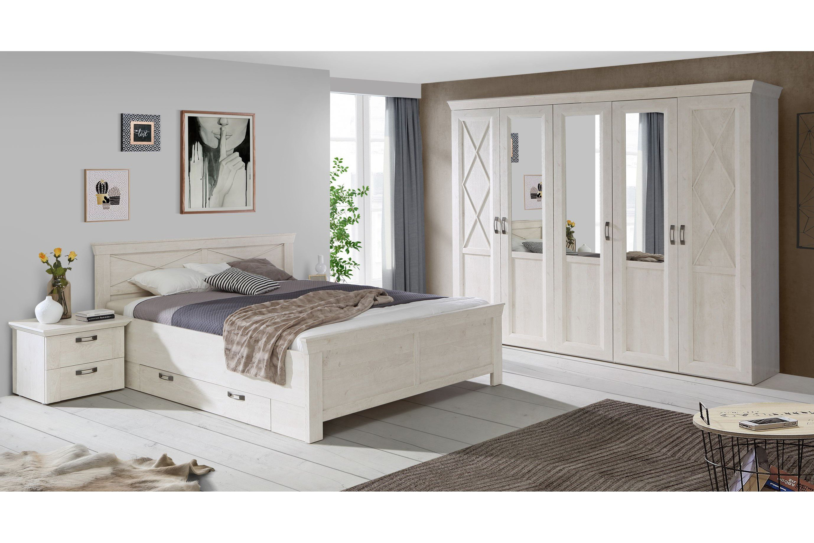 forte kashmir schlafzimmer pinia wei m bel letz ihr online shop. Black Bedroom Furniture Sets. Home Design Ideas