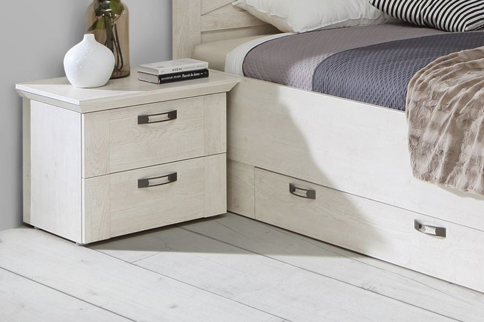 Forte Kashmir Schlafzimmer Weiß Pinia Möbel Letz Ihr OnlineShop - Landhaus schlafzimmer weib