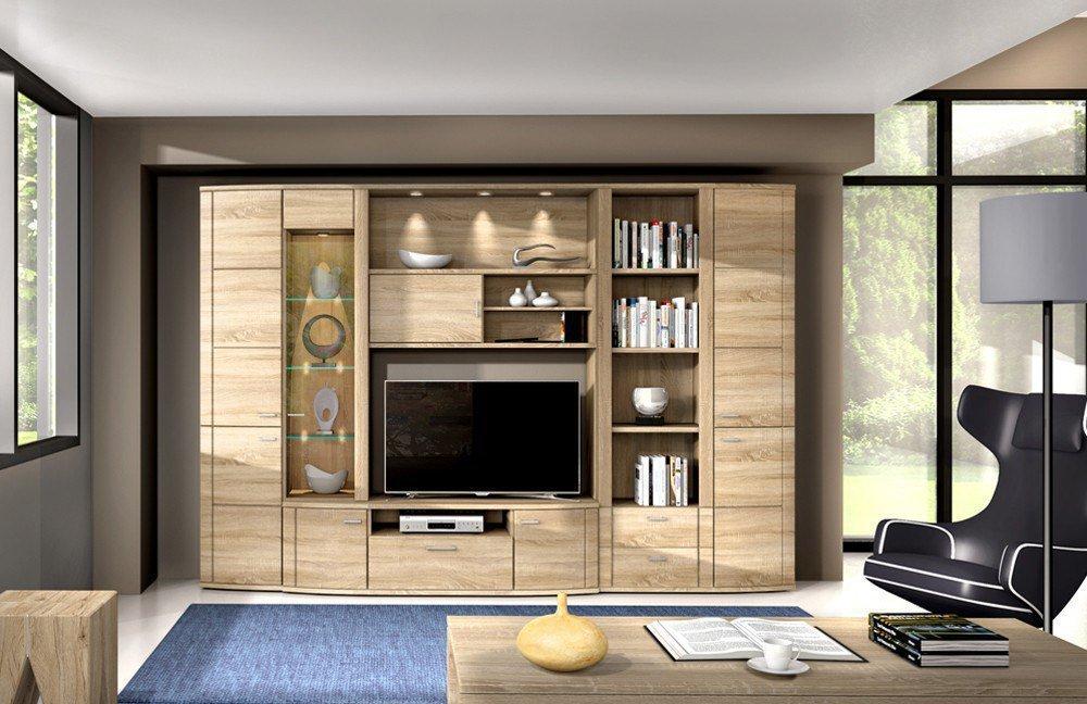 wohnwand siena 1801 sonoma eiche von rmi m bel m bel letz ihr online shop. Black Bedroom Furniture Sets. Home Design Ideas