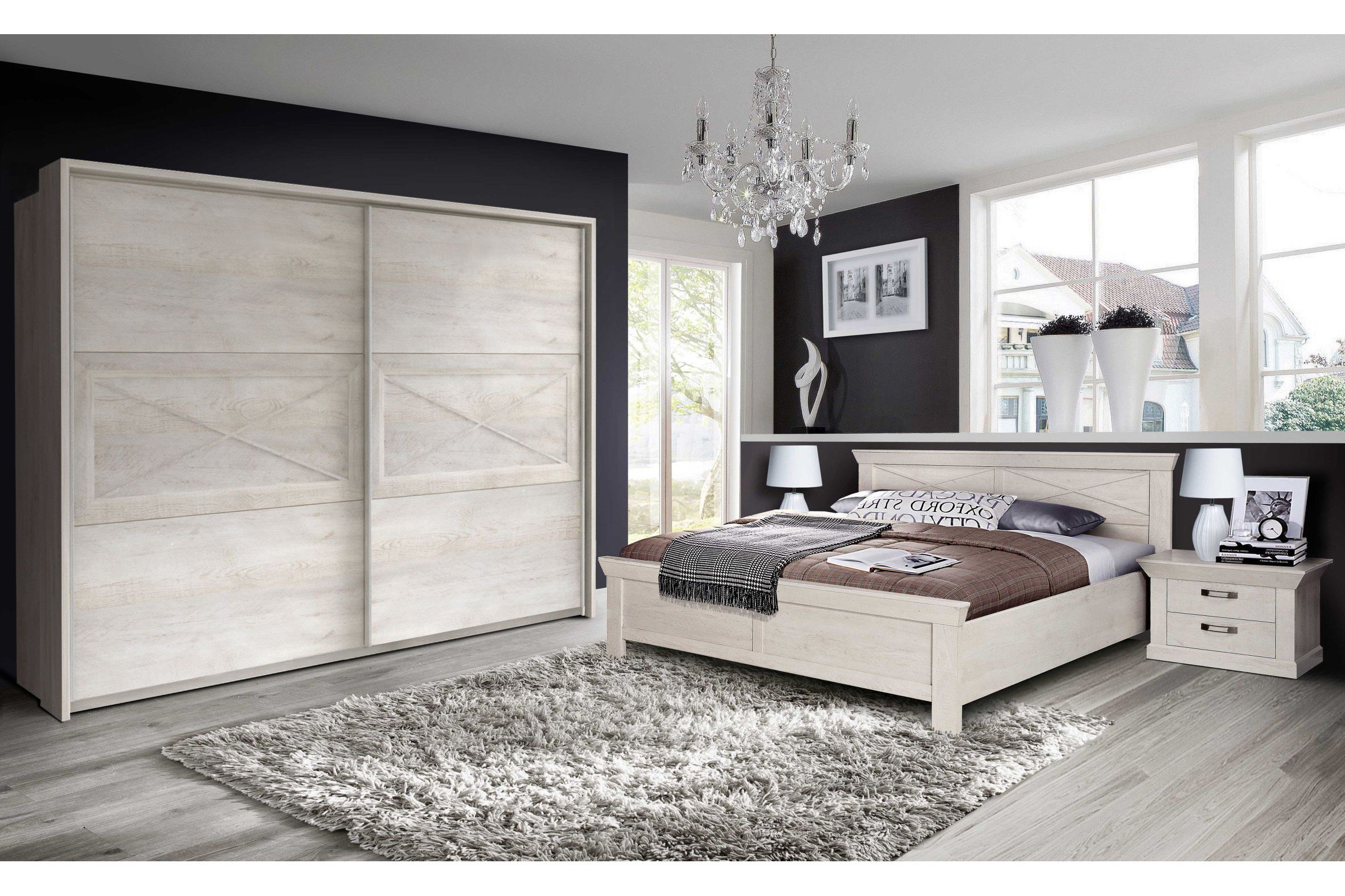 Forte Schlafzimmer Landhaus-Stil Kashmir | Möbel Letz - Ihr Online