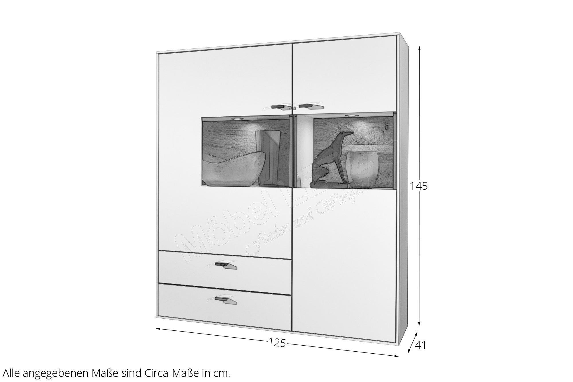 Gwinner Wohndesign Highboard Media Concept Hb8 1 Weiss Mobel Letz Ihr Online Shop