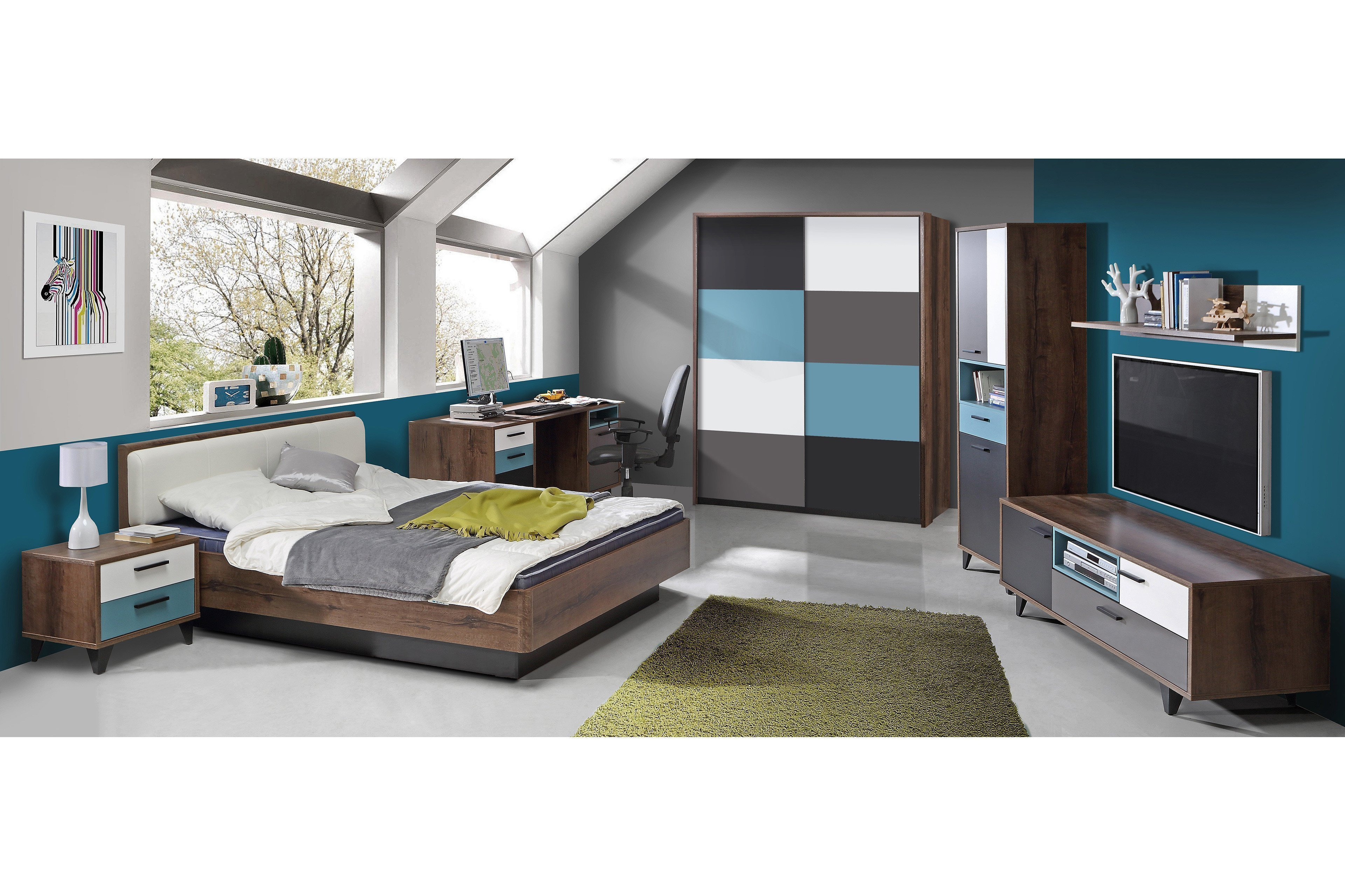 raven jugendzimmer 2 teilig von forte m bel letz ihr. Black Bedroom Furniture Sets. Home Design Ideas