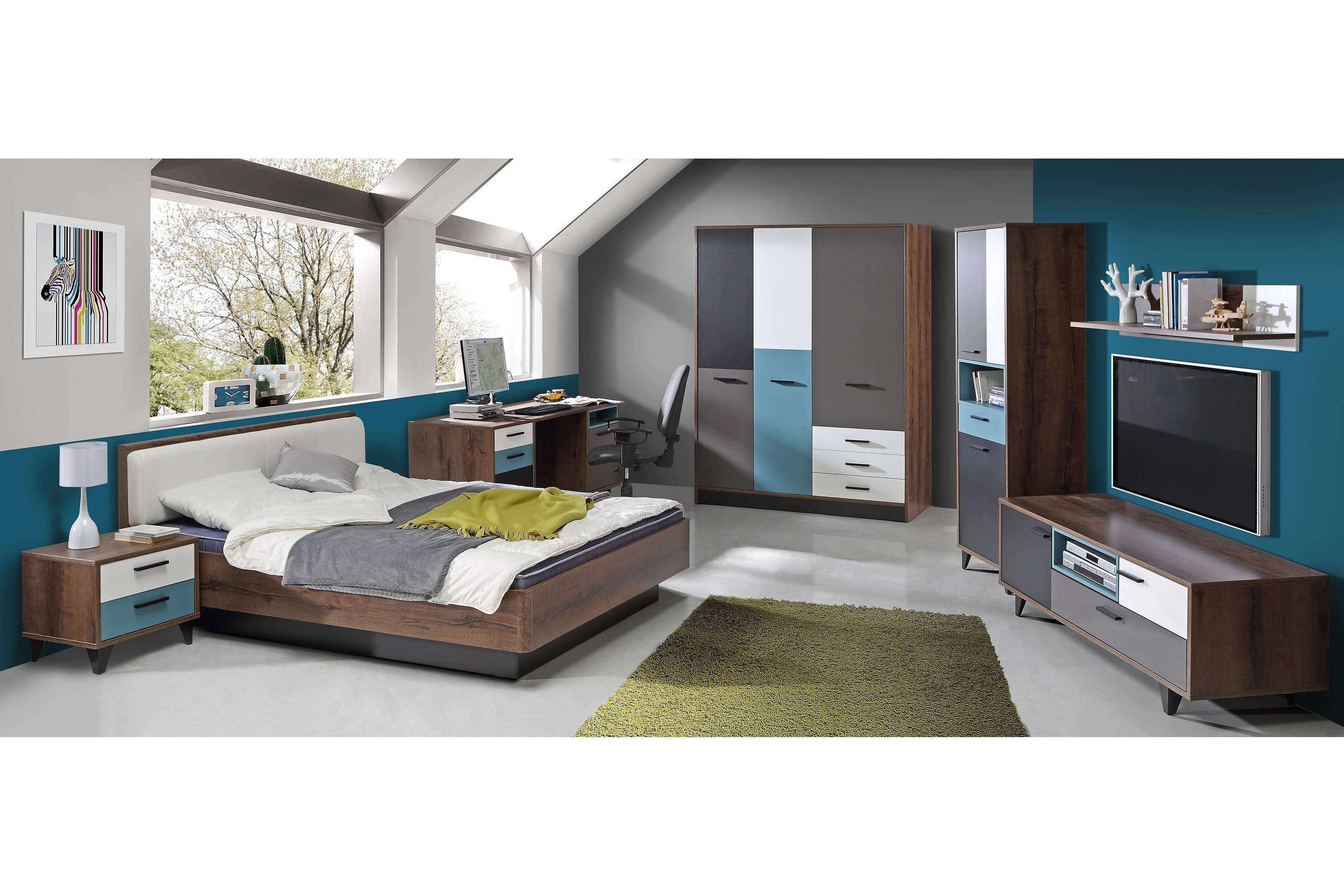 forte jugendzimmer raven retro m bel 50er m bel letz ihr online shop. Black Bedroom Furniture Sets. Home Design Ideas