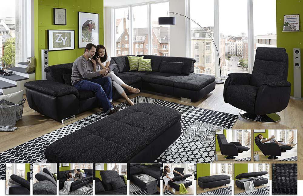 megapol imago indira isola montgomery ecksofa anthrazit schwarz m bel letz ihr online shop. Black Bedroom Furniture Sets. Home Design Ideas