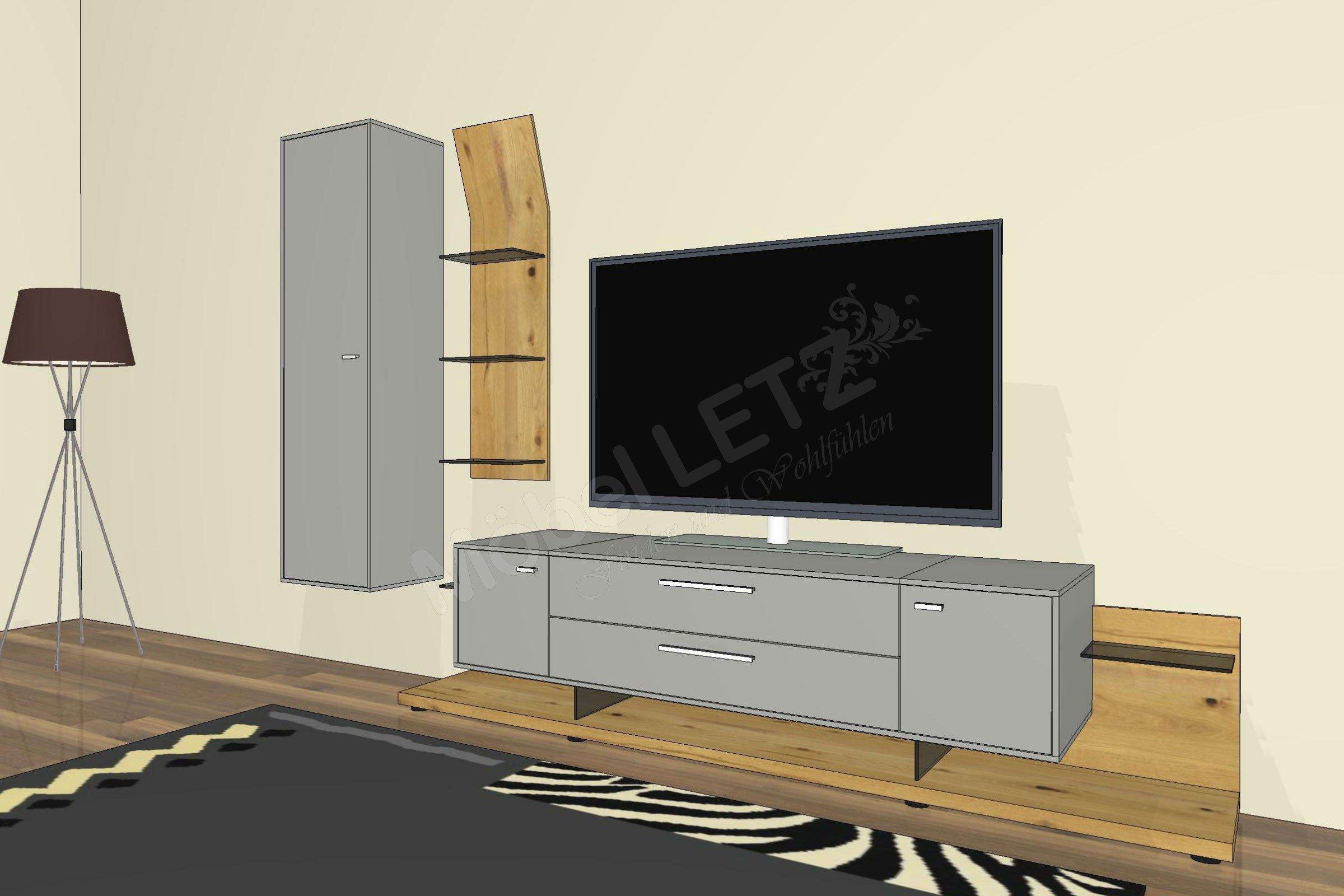 gwinner wohnwand media concept mc909 fango balkeneiche m bel letz ihr online shop. Black Bedroom Furniture Sets. Home Design Ideas