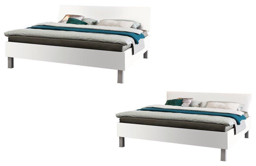 Express Carina Bett graphit Holzfüße   Möbel Letz - Ihr Online-Shop