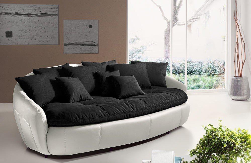 cotta aruba ii megasofa black white m bel letz ihr online shop. Black Bedroom Furniture Sets. Home Design Ideas