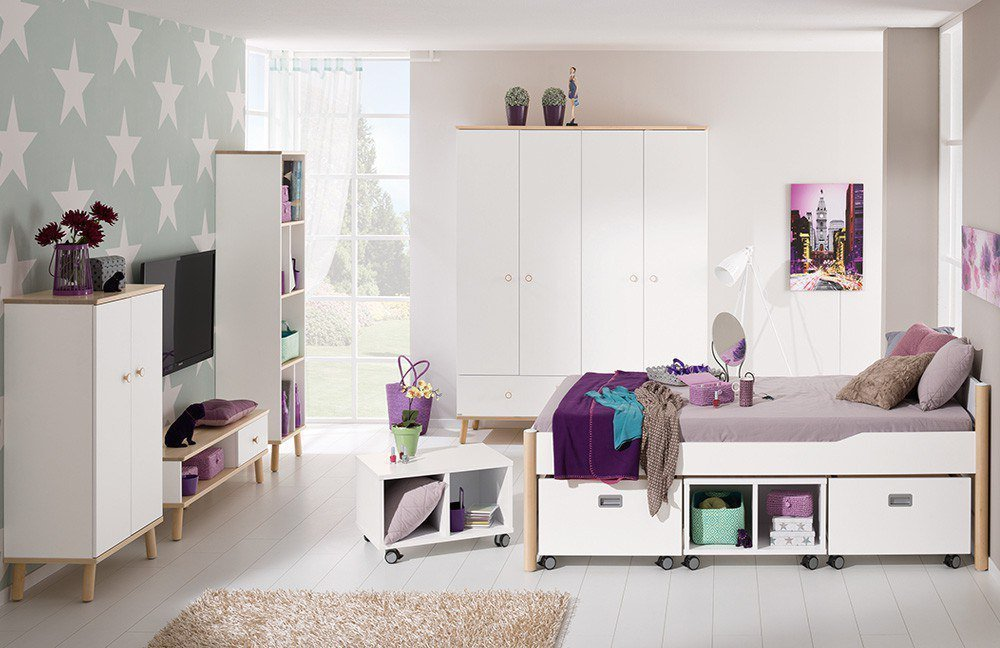 paidi ylvie jugendzimmer wei birke m bel letz ihr. Black Bedroom Furniture Sets. Home Design Ideas